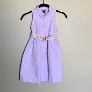 Ralph Lauren lavender embroidered sleeveless dress